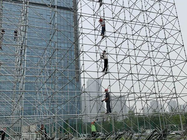 杭州百草味氧气音乐节雷亚架舞台搭建案例