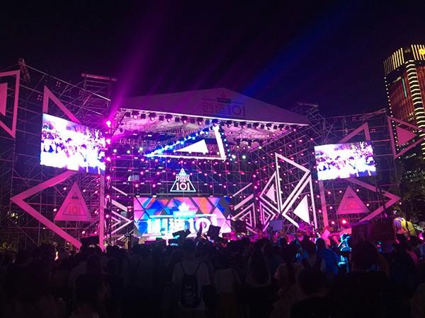 杭州钱江世纪公园创造101粉丝见面会舞台设备租赁案例
