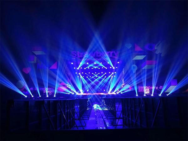 杭州滨江白马湖会展中心草莓音乐节灯光设备租赁案例