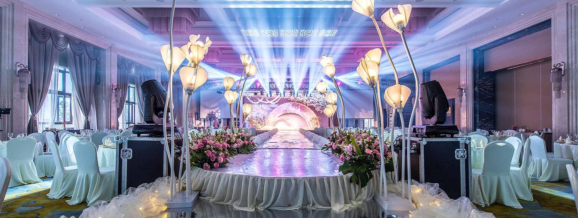 宁波洲际大酒店婚庆舞台灯光音响租赁案例